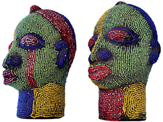 ​Nigerian Female Beaded Head:   by The Moderns