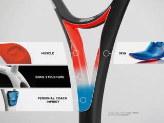 Artengo – raquettes de tennis - série X90:  de style  par PREMISSE DESIGN