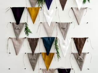 Linen fabric banner bunting by Lovely Home Idea par LOVELY HOME IDEA Minimaliste