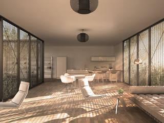 Forrest House Salas de estilo moderno de vmavi Moderno