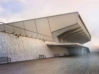 Mist Museum Balcones y terrazas de estilo minimalista de vmavi Minimalista