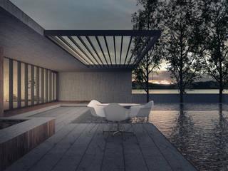 Mist Museum vmavi Modern balcony, veranda & terrace