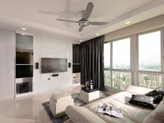 Clementi:  Living room by urban habitat,