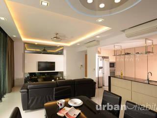 Kovan Residence :  Living room by urban habitat,