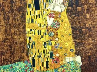 Le Baiser d'après Gustave Klimt par La Licorne Moderne