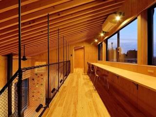 H-HOUSE モダンデザインの 書斎 の 株式会社長野聖二建築設計處 モダン
