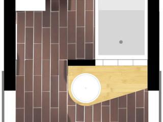 PLAN DU PROJET: Salle de bains de style  par Contamin et Bioley architectes