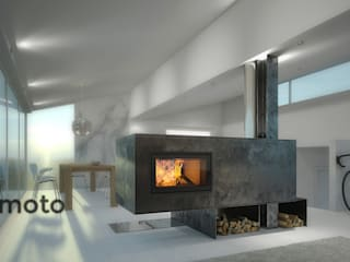 kiimoto kamine Living roomFireplaces & accessories