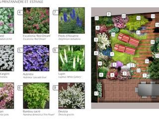 Aménagement d'une cour intérieure Jardin par PaysageMania