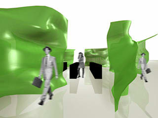 the quad patch:  Messe Design von SW  Retail+Interior Design,Minimalistisch