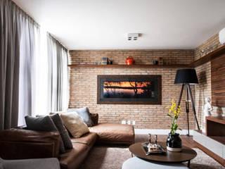 Amaury - São Paulo Salas de estar modernas por TICIANA BADRA ARQUITETURA E INTERIORES Moderno