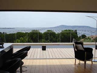 My first project .... the last oyster table Hamerman Rouby Architectes Terrasse