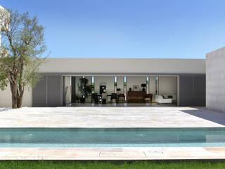 Maison à patio Hamerman Rouby Architectes Maisons minimalistes