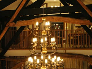 Grade 2 listed barn lighting design: rustic  by Aura Designworks Ltd, Rustic
