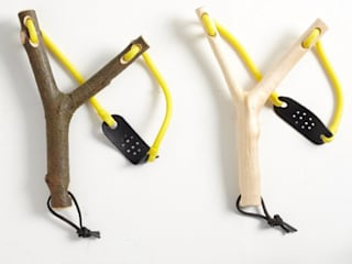 stripped wood slingshots: scandinavian  by Fate London, Scandinavian