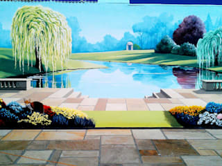 Tropical paradise mural by Marvellous Murals Country