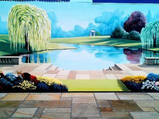 Garden Trompe L'oeil Mural:  Walls by Marvellous Murals