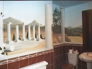 Greek Vista Bathroom Mural:  Walls by Marvellous Murals