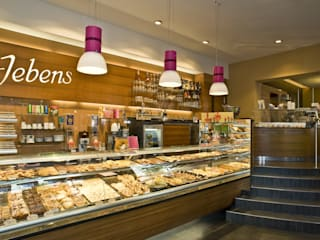Bakery Store & Coffee House Jebens by BERLINRODEO interior concepts GmbH Modern
