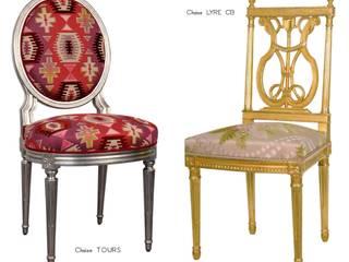 Chaises Louis XVI Tours & Lyre CB:  de style  par BALCAEN Mobilier de style, Paris