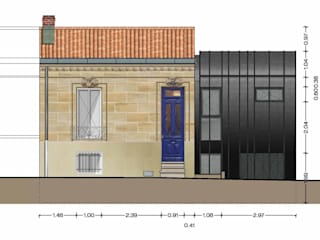 _Extension de maison individuelle_Talence_2013 Maisons modernes par Hanuman Architecture Moderne