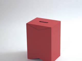 TABOURET BOX - Moustache par SILVERA