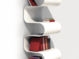BIBLIOTHEQUE ONDULEE par vidame creation Moderne