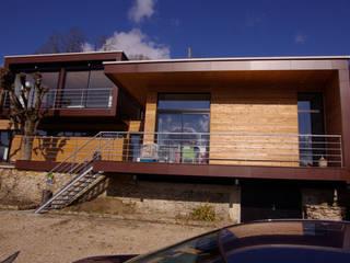 Les partie neuves. Maisons modernes par Atelier d'Architecture Marc Lafagne, architecte dplg Moderne