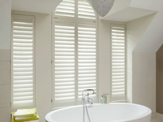 Bathroom shutters :   by The New England Shutter Company