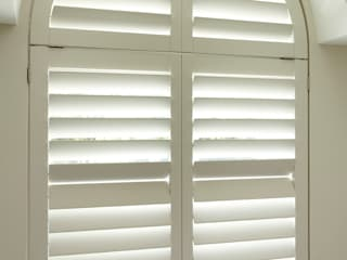TNESC Manhattan bathroom shutters:   by The New England Shutter Company