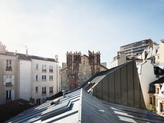 Surélévation Boulogne Billancourt: Terrasse de style  par MALBRAND - ARCHITECTURES