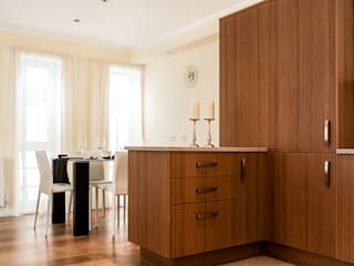 Show flat in London, The Cubitt, Battersea Lujansphotography Modern dining room
