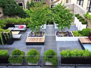 Roof terrace Dordrecht ERIK VAN GELDER | Devoted to Garden Design Giardino moderno