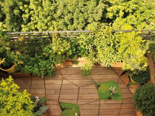 Terrasse en sol majeur: Terrasse de style  par ATELIER DLV