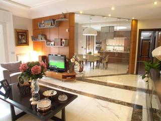 Casa Mazzara Uno: Soggiorno in stile  di Alfonso D'errico Architetto