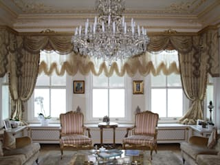 Öztek Mimarlık Restorasyon İnşaat Mühendislik Phòng khách phong cách kinh điển Gỗ Amber/Gold