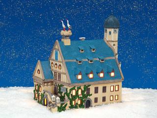 20104 - Porzellan Windlichthaus Rathhaus Weiden/Oberpfalz 24x14x15 cm :   von G. Wurm GmbH + Co. KG