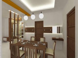 Salle à manger minimaliste par Preetham Interior Designer Minimaliste