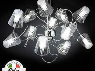Suspension Aria 12 abat-jours cristal par Ecreativ Moderne
