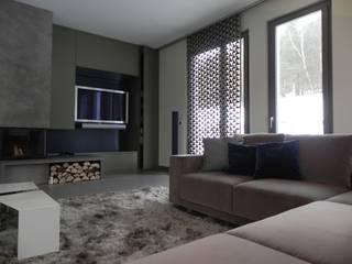现代客厅設計點子、靈感 & 圖片 根據 WR GmbH Werkstätten für Raumgestaltung 現代風