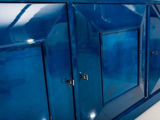 Exceptional Sideboard in clouded blue lacquer de BDV Deco et Dany Art design