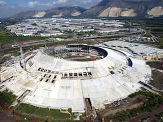 Vista aerea del CIS di Nola: Centri commerciali in stile  di PIMAR