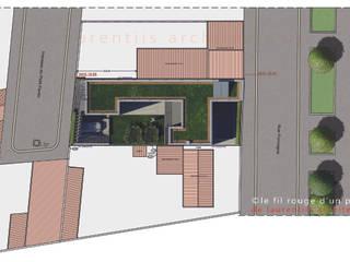 Nowoczesne domy od dE LAURENTIIS Architectures, le fil rouge d'un projet ! Nowoczesny