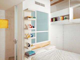 PISO SALVA46: Dormitorios de estilo  de Miel Arquitectos