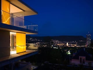 Nachtimpression:  Terrasse von Atelier und Architekturbüro Bärenwald