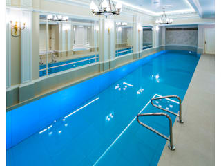 Party in and on the Pool with Moving Floor Pool Klassische Pools von London Swimming Pool Company Klassisch