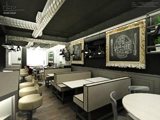 BurBaCa #1 designed by Davide Coluzzi DAZ architect: Gastronomia in stile  di Davide Coluzzi DAZ architect
