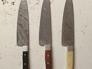 set of 3 chefs knives: rustic  by Fate London, Rustic