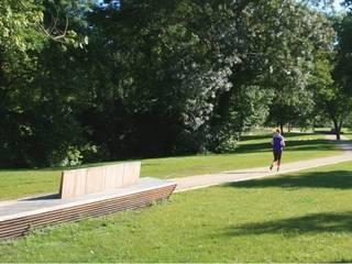 Aménagement d'un Parc et création d'une passerelle: Jardin de style  par Christian Larroque