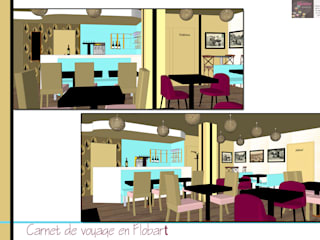 aménagement d'un restaurant: Restaurants de style  par genèse